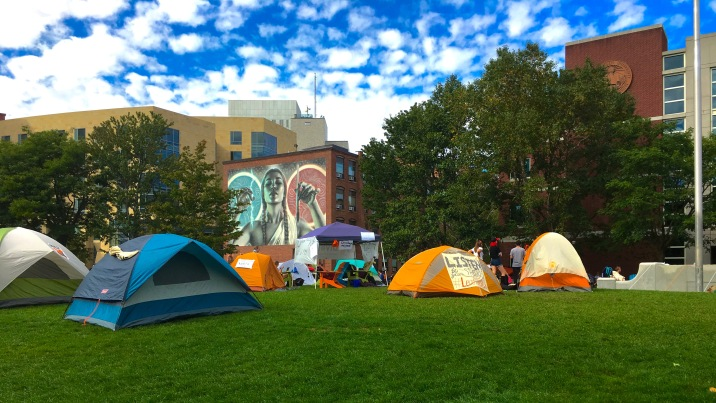 Beginning Monday morning (Oct. 3) a collection of tents popped up on Centennial Commons, belonging to a group called Divest NU.
